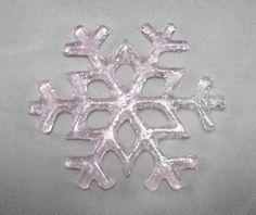 Fused Glass Snowflake - Blush Pink
