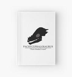 Pachycephalosaurus Skull Hardcover Journal #dinosaurs #jurassic #pachycephalosaurus #fossil #skull