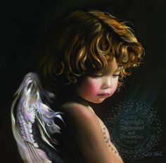 Angel Looking Down by Nancy Noel.  I have loved this picture for a very long time and am lucky to wake up to it now every day...