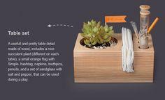 Enfeite mesa: planta, guadanapo, etc