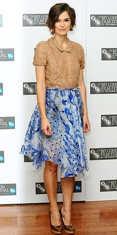 "Keira Knightley in Rodarte at the ""Never Let Me Go"" photocall (2010 BFI London Film Festival)"