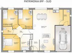 Plan maison neuve à construire - Maisons France Confort Patrimonia 89 F