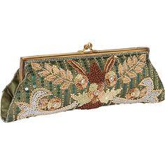 #EveningBags, #Handbags - Moyna Handbags Beaded Evening Clutch Olive - Moyna Handbags Evening Bags