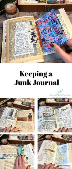 Keeping a Junk Journal Diy Journal Books, Bullet Journal Writing, Creative Journal, Scrapbook Journal, Bullet Journal Ideas Pages, Art Journal Pages, Junk Journal, Creative Notebooks, Journal Covers