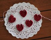 Crocheted hearts & flowers - $!.20 for 2 or 3 http://www.etsy.com/shop/debbieback?ref=pr_shop_more