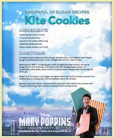 Mary Poppins' Kite Cookies