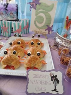 Baby Shower · Little Mermaid/Under the Sea kid-friendly food. Party styled by Madame Partie