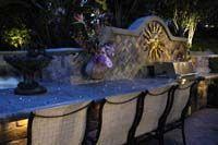 Custom barbecue counter with fiber optic lighting