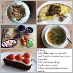 Dagmenu: puur, bewust, gezond en vaak koolhydraatarm. Lchf, Keto, Sugar Detox, Oatmeal, Low Carb, Breakfast, Food, Mushroom, Low Carb Recipes