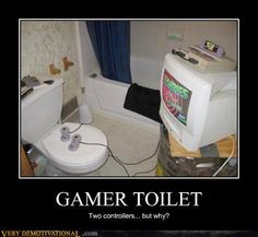 Funny Gamer Stuff | Gamer Toilet - Funny Stuff