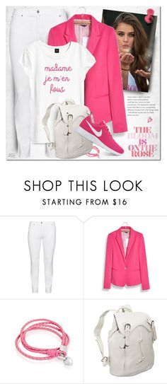 """""""Say What: Statement T-Shirts"""" by breathing-style ❤ liked on Polyvore featuring Steilmann, WithChic, Amanda Rose Collection, AmeriLeather and NIKE"""