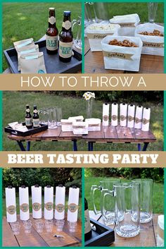 Bring the bar to your backyard with this beer tasting party checklist.