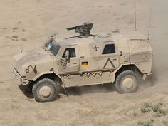 ATF Dingo The ATF Dingo is a German heavily armored military infantry mobility vehicle based on aUnimog chassis with a V-hull design, produced by the company Krauss-Maffei Wegmann (KMW). It is...