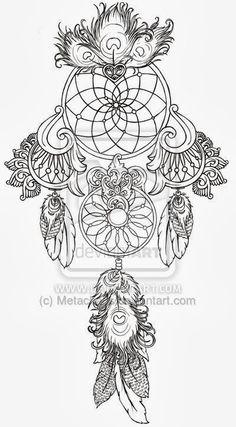 Women Tattoos Design: Dreamcatcher tattoos ideas images for girl and women