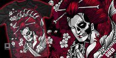 """bloody geisha (SOLD)"" t-shirt design by ndrue182"