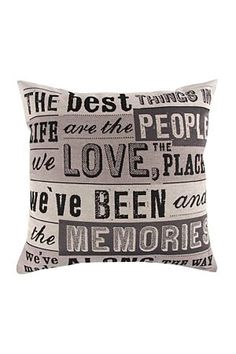 """Add some cheer to your living space with this delightful tapestry scatter. The positive wording on the scatter will surely keep your guests joyful and in high spirits.<div class=""""pdpDescContent""""><BR /><b class=""""pdpDesc"""">Dimensions:</b><BR />L48xW48 cm<BR /><BR /><b class=""""pdpDesc"""">Fabric Content:</b><BR />100% Polyester<BR /><BR /><b class=""""pdpDesc"""">Wash Care:</b><BR>Lukewarm machine wash</div>"""