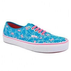 daa8482f17e272 Vans Authentic Hello Kitty Hawaiian Ocean Blue Neon Hot Pink Womens Shoe  Classic