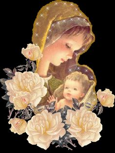 French pictures of blessed virgin mary Blessed Mother Mary, Blessed Virgin Mary, Happy Mothers, Angel Pictures, Jesus Pictures, Religious Pictures, Religious Art, Mother In Heaven, Mama Mary