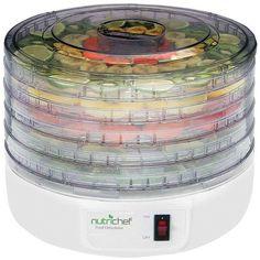 Nutrichef Electric Countertop Food Dehydrator/Food Preserver - PYLE HOME - PKFD12