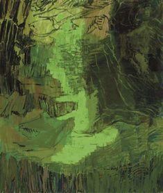 Danish painter Per Kirkeby 79 x 67 inches.