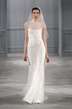 Stunning Monique Lhuillier Spring Wedding Dresses #springtime #fashion
