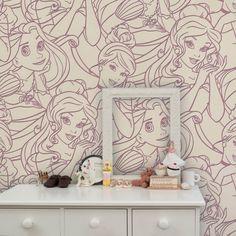 Graham & Brown Disney Princess Flock Pink Childrens Wallpaper 70-228