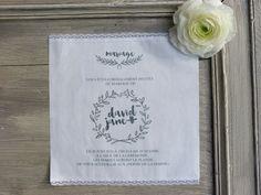 faire part mariage tissu collection couronne grise de la boutique latelierinspire sur - Faire Part Mariage Etsy