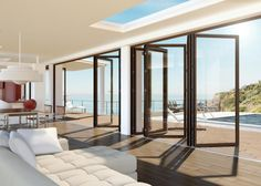 Fenster - Balkontüren - Schiebetüren - Faltschiebetüren von UNILUX für sehr große Öffnungen.