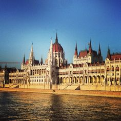 Budapest - sitting atop the budda overlooking the hill and the Parliment is the best view in the world