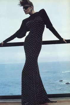 Kamali dress, I believe, by Helmut Newton in 1983.