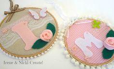 Irene and Nicki Create Felt Wreath, Pinterest For Business, Craft Business, Irene, Hoop, Initials, Coin Purse, Wreaths, Crafts