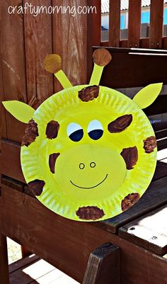 Wesley Summer 2015; Paper Plate Giraffe; Creative Paper Plate Crafts for Kids to Make - Crafty Morning