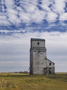 The plains are full of abandoned grain elevators like the one described in The Angel of Weathered Storms.