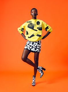 EDITORIAL: Hand painted clothing by Dane Johnson featuring Achok Majak