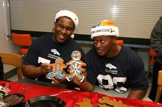 Demaryius Thomas and Orlando Franklin with their gingerbread men :)  -H