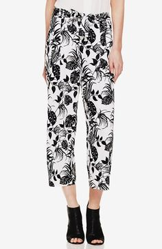 Free shipping and returns on Vince Camuto 'Tropical' Print Crop Pants at Nordstrom.com. A graphic jungle print twines its way around the easy, pull-on silhouette of lightweight woven pants in a cropped length.