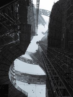 Interior of skyscraper being built