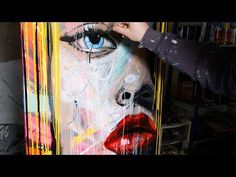 How To Paint Pop Art Painting with Abstract Painting Background | Lola - YouTube