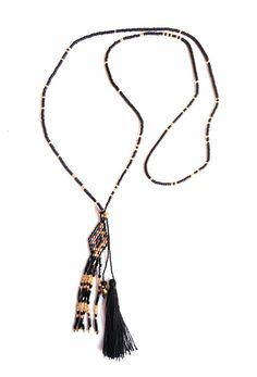 Miyuki beads, tassel necklace, long necklace, wholesale necklace, bali necklace