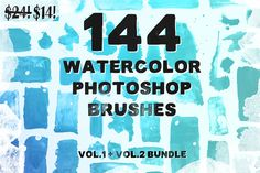 144 Watercolor PS Brush Bundle! by Tom Chalky on Creative Market