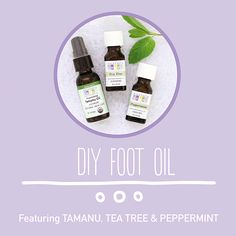 Give tired feet a break with a foot oil recipe featuring tamanu oil, tea tree essential oil and peppermint essential oil.
