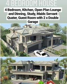 Best House Plans, Modern House Plans, Modern House Design, Double Storey House Plans, 5 Bedroom House Plans, African House, 2 Storey House Design, Fantasy House, Mansions Homes