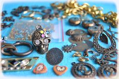 Set  Mix cabochons and many pcs by BlytheinWonderland on Etsy, $12.00