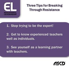 #ELMag author Marceta Reilly shares three tips for breaking through resistance on Inservice