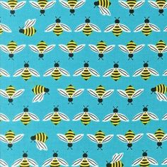 1 FQ Buzzworthy Cotton Fabric Sky Color by SassyandChicFabrics