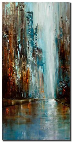 Abstract and Modern Paintings – Osnat Fine Art – Drawing Tips – Malerei City Painting, Oil Painting Abstract, Abstract Wall Art, Painting Art, Painting Tips, Abstract Paintings, Oil Paintings, Art Actuel, Abstract City