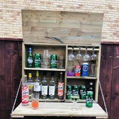 The Henry Garden Bar | Etsy Outdoor Garden Bar, Herb Garden Pallet, Diy Outdoor Bar, Backyard Bar, Indoor Outdoor, Murphy Bar, Wall Mounted Bar, Outside Bars, Gin Bar