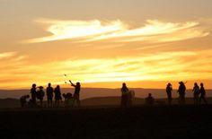 An AfrikaBurn sunset courtesy of EPA Photos/Kim Ludbrooke - Tankwa, South Africa.