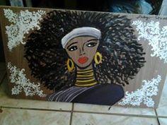 Africana em tela de mdf