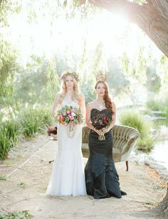 Aurora and Maleficent Bridal inspiration